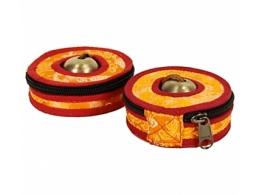 Kott Tiibeti kelladele - oranž-punane - 9 cm - SOODUSPAKKUMINE - VIIMANE